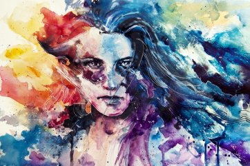 intense-emotional-rainbow-color-painting-gay-rights-woman-girl-watercolor-portrait-painting-art