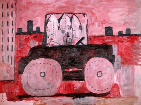 Philip Guston (American, born Canada, 1913â??1980). City Limits, 1969. Oil on canvas, 77 x 103 1/4 in. (195.6 x 262.2 cm). The Museum of Modern Art, New York, Gift of Musa Guston, 1991. © The Estate of Philip Guston