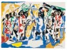 Jacob Lawrence (American, 1917â??2000). Soldiers and Students, 1962. Opaque watercolor over graphite on wove paper, 22 7/16 x 30 7/16 in (57 x 77.3 cm). Hood Museum of Art, Dartmouth College, Hanover, New Hampshire, bequest of Jay R. Wolf, Class of 1951. © 2013 The Jacob and Gwendolyn Lawrence Foundation, Seattle / Artists Rights Society (ARS), New York   Press Permission is contingent upon the artwork not being cropped, detailed, overprinted or altered; the work being fully credited; and the inclusion of the appropriate copyright notice (listed above) adjacent to all reproductions.