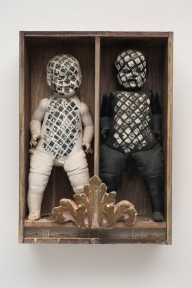 Edward Kienholz (American, 1927â??1994). It Takes Two to Integrate (Cha Cha Cha), 1961. Painted dolls, dried fish, glass in wooden box, 31 1/4 x 22 1/2 x 7 1/2 in. (79.4 x 57.2 x 19.1 cm). Collection of David R. Packard and M. Bernadette Castor, Portola Valley, California. © Kienholz. Photo: Courtesy of L.A. Louver, Venice, California