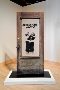 David Hammons (American, born 1943). The Door (Admissions Office), 1969. Wood, acrylic sheet, and pigment construction, 79 x 48 x 15 in. (200.7 x 122 x 38.1 cm). California African American Museum, Los Angeles, Collection of Friends, the Foundation of the California African American Museum. © David Hammons Must be reproduced in its entirety, may not be bled off the page, superimposed, or cropped.