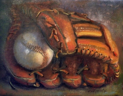 vintage_baseball_with_glove_11_x14_oil_on_canvas_325b37d82d39668c9be571f2be2080ac