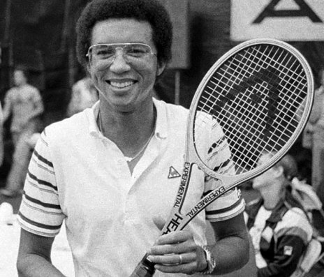 Arthur-Ashe-promoting-a-line-of-sporting-goods-in-Flushing-Meadows-New-York-1979.